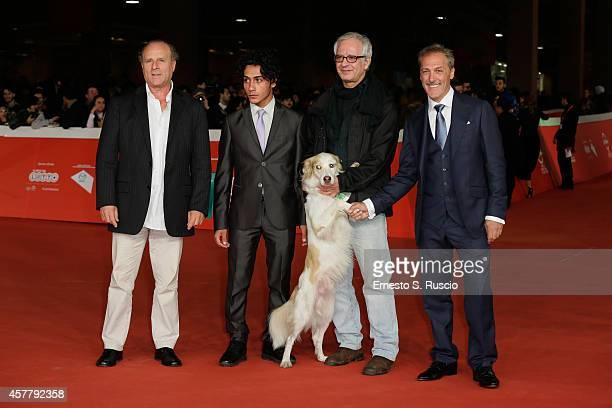 Vincenzo Albanese Omar Noto Pasquale Scimeca Libero and Marcello Mazzarella attend the 'Biagio' Red Carpet during the 9th Rome Film Festival on...