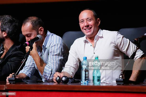 Vincenzo De Michele and Emiliano Ragno attend the 'Tre Tocchi' Press Conference during the 9th Rome Film Festival on October 21 2014 in Rome Italy