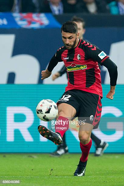 Vincenzo Grifo of Freiburg in action during the Bundesliga match between FC Schalke 04 and SC Freiburg at VeltinsArena on December 17 2016 in...