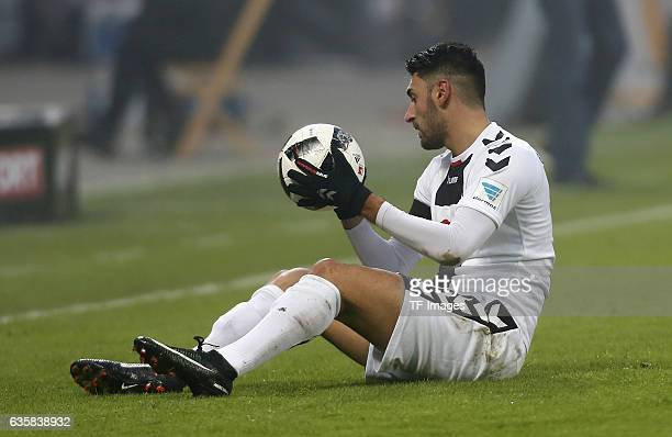 Vincenzo Grifo of Freiburg on the groand during the Bundesliga match between Bayer 04 Leverkusen and SC Freiburg at BayArena on December 3 2016 in...