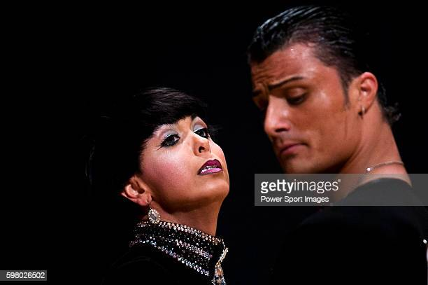 Vincenzo Mariniello and Sara Casini of Italy during the WDSF GrandSlam Latin on the Day 1 of the WDSF GrandSlam Hong Kong 2014 on May 31 2014 at the...