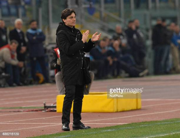 Vincenzo Montella during the Italian Serie A football match between SS Lazio and AC Milan at the Olympic Stadium in Rome on february 13 2017