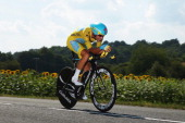 Vincenzo Nibali of Italy and Astana Pro Team in action during the twentieth stage of the 2014 Tour de France a 54km individual time trial stage...