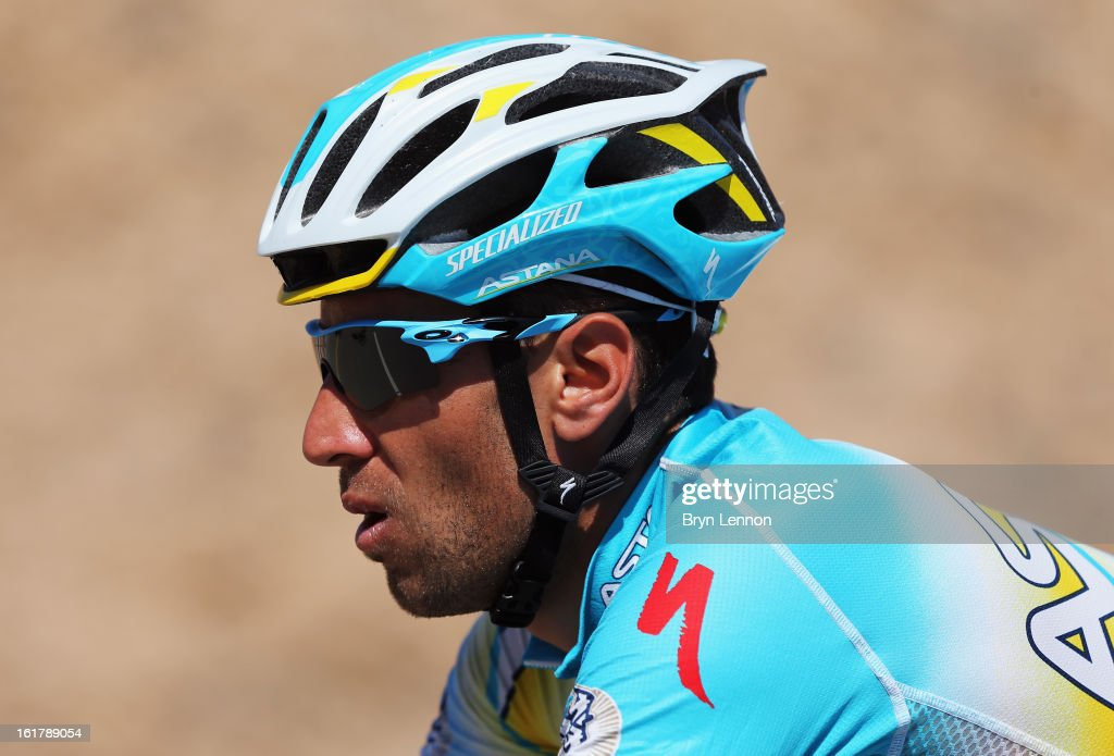 Vincenzo Nibali of Italy and the Astana Pro Team rides in the peloton on stage six of the 2013 Tour of Oman from Hawit Nagam Park to the Matrah Corniche on February 16, 2013 in Matrah, Oman.