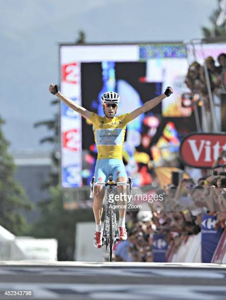 Vincenzo Nibali of Team Astana Pro during Stage 13 of the Tour de France on July 18 2014 in Chamrousse France