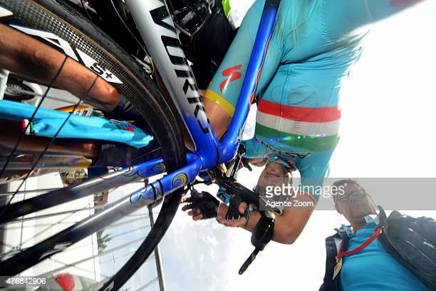 Vincenzo Nibali of team ASTANA PRO TEAM competes during Stage Six of the Criterium du Dauphine on June 12 2015 in Saint Bonnet en Champsaur France