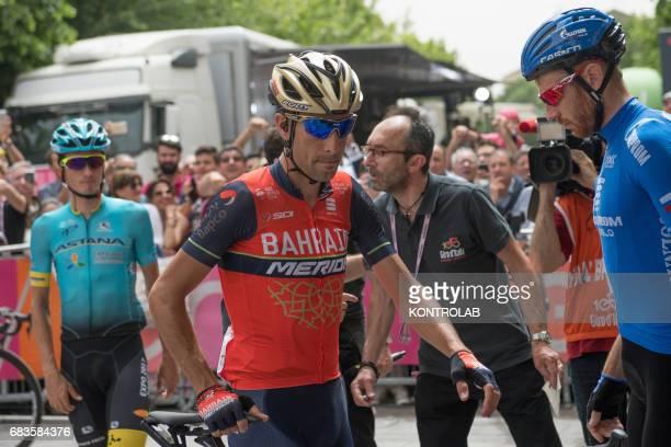 CASTROVILLARI CALABRIA ITALY Vincenzo Nibali winner of the Giro d'Italia 2016 during the event for the start of the seventh stage of the 100th Giro...