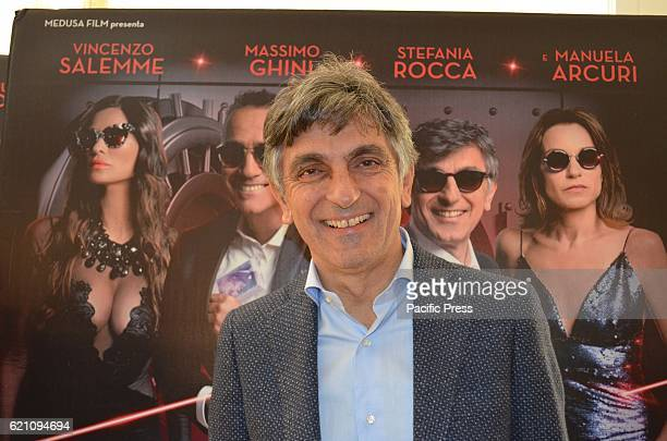 Vincenzo Salemme neapolitan actor during Press Conference of Don' t steal home of thieves new Italian comedy of the director Carlo Vanzina at the...
