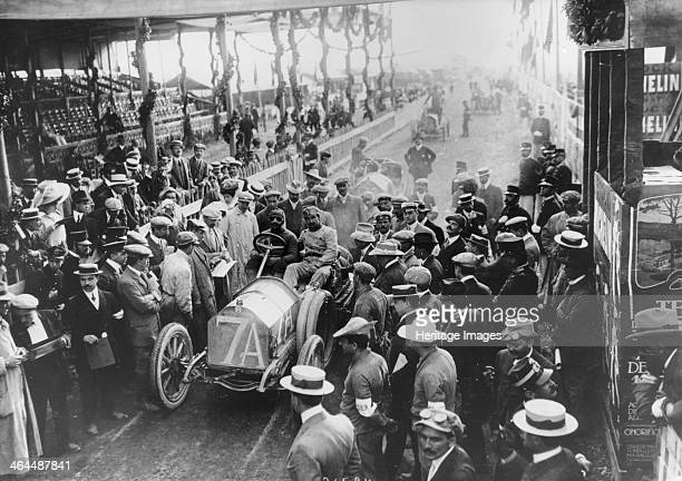 Vincenzo Trucco at the start of the Targa Florio Sicily 1908 Driving an IsottaFraschini Trucco was the eventual winner