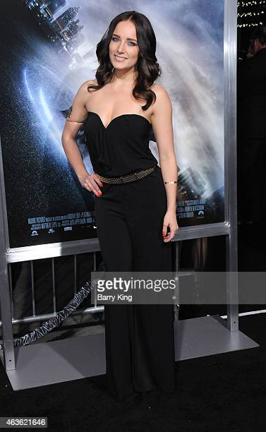 Vine personality Laura Sebastian attends the premiere of 'Project Almanac' at TCL Chinese Theatre on January 27 2015 in Hollywood California
