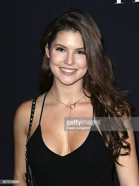 Vine star/model Amanda Cerny attends the premiere of Open Roads Films' 'Fifty Shades of Black' at Regal Cinemas LA Live on January 26 2016 in Los...
