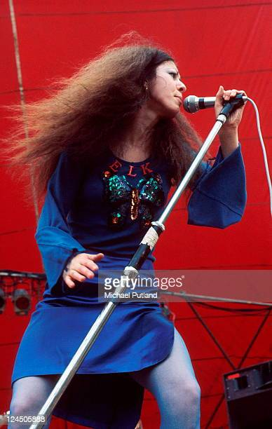Vinegar Joe perform on stage at the Great Western Festival Lincolnshire UK 29th May 1972 Elkie Brooks