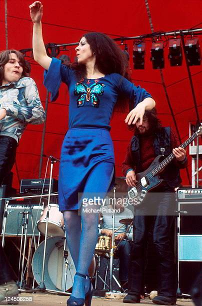 Vinegar Joe perform on stage at the Great Western Festival Lincolnshire UK 29th May 1972 Robert Palmer Elkie Brooks