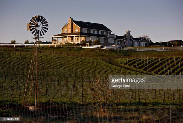 A vineyard estate near the airport is viewed on February 27 near San Luis Obispo California San Luis Obispo County has become a coastal wine weekend...