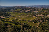 Vineyards located within the Chalk Hill appellation are from the air on October 13 in Santa Rosa California Sonoma County an agriculturally diverse...