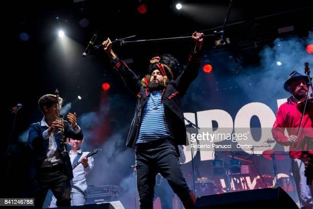 Vinicio Capossela perform on stage on August 26 2017 in Avellino Italy
