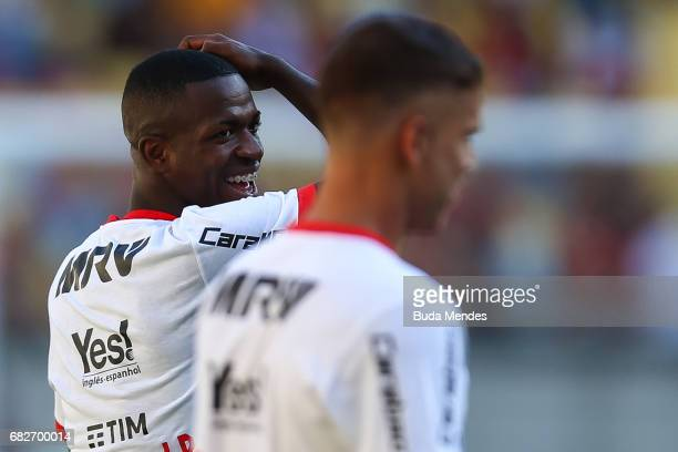 Vinicius Jr of Flamengo warms up before a match between Flamengo and Atletico MG part of Brasileirao Series A 2017 at Maracana Stadium on May 13 2017...