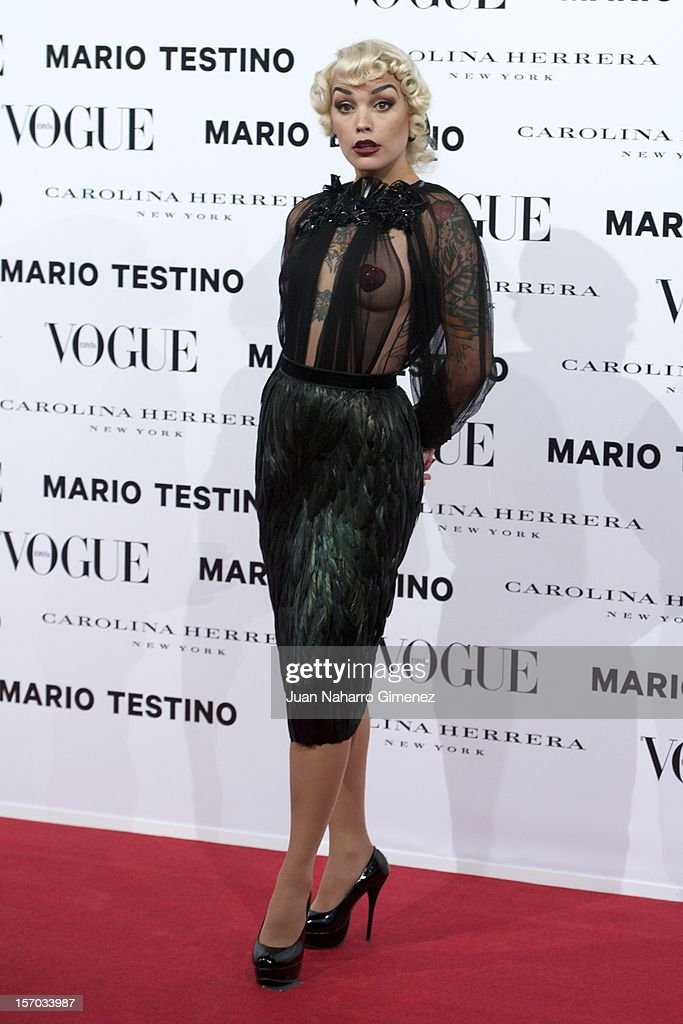 Vinila Von Bismark attends the presentation launch of the Vogue December issue at Fernan Nunez Palace on November 27, 2012 in Madrid, Spain.