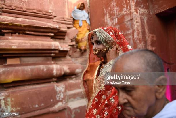 Vinita Devi a widow got remarried with Rakesh Kumar at Gopinath Temple on October 16 2017 in Vrindavan India Vinita got widowed in 2013 when she lost...