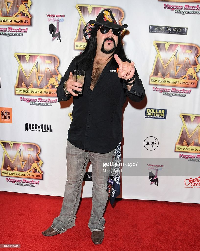Vinne Paul walks the red carpet at the Vegas Rocks! Magazine Awards on August 26, 2012 in Las Vegas, Nevada.