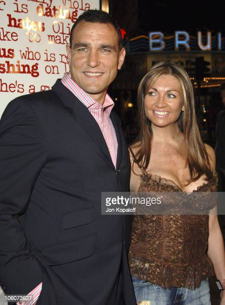 Vinnie Jones and wife Tanya Jones during DreamWorks' 'She's the Man' Los Angeles Premiere Red Carpet at Mann's Village in Westwood California United...