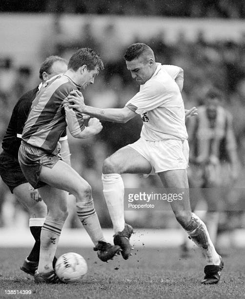 Vinnie Jones in action for Leeds United during their Second Division match against Bradford City at Elland Road in Leeds 7th April 1990 The match...