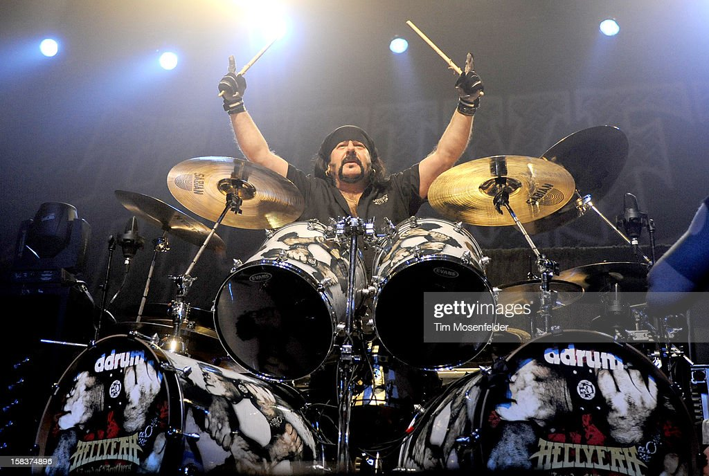 Vinnie Paul of Hellyeah performs in support of the bands' 'Band of Brothers' release at The Warfield on December 13, 2012 in San Francisco, California.