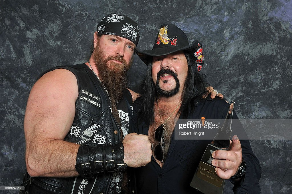 Vinnie Paul portraits after he receives the 'Drum Legend Icon' award at the Vegas Rocks! Magazine Awards 2012 at the Joint at the Hard Rock Hotel and Casino on August 26, 2012 in Las Vegas, Nevada.