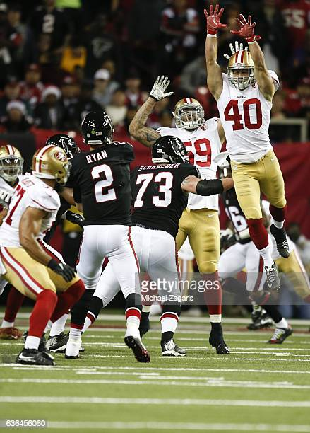 ... Game Worn by 40 Vinnie Sunseri Nike Pants Sz Vinnie Sunseri of the San  Francisco 49ers jumps to try and deflect a pass during the ... 974198500