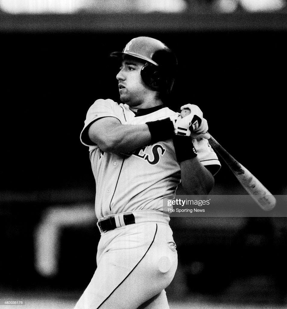 Vinny Castilla of the Colorado Rockies bats circa 1990s