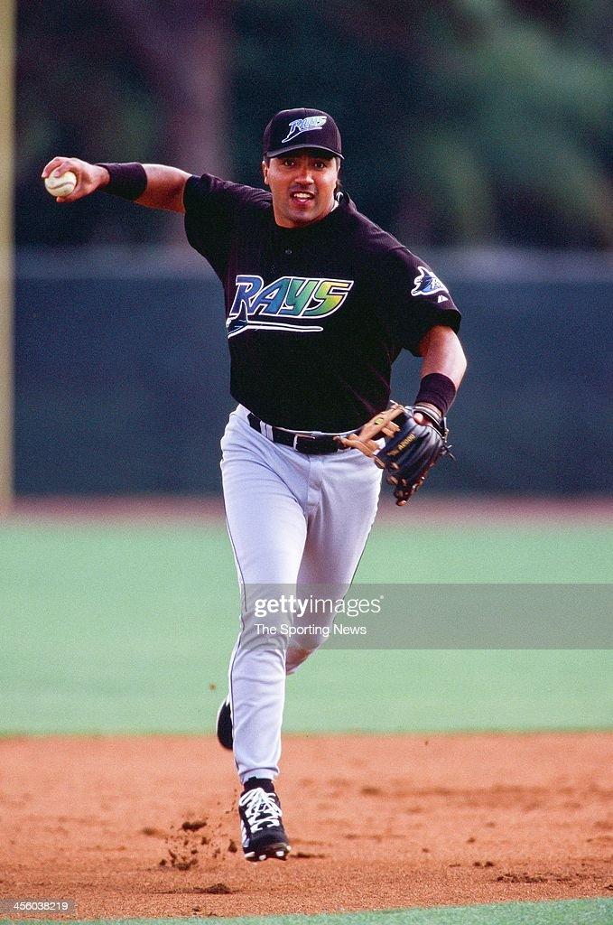 Vinny Castilla of the Tampa Bay Devil Rays during Spring Training on February 28 2000