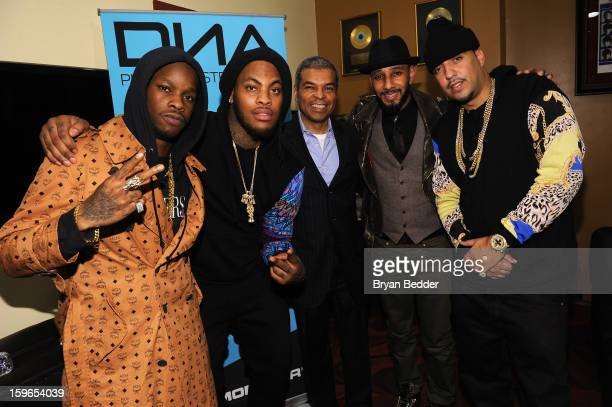 Vinny Chase Waka Flocka Flame Paul Cothran Swizz Beatz and French Montana attends VH1 Save The Music Foundation's Songwriters Music Series Remix...