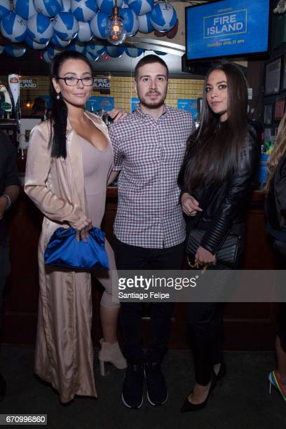 JWOWW Vinny Guadagnino and Sammi Giancola attend Logo TV Fire Island Premiere Party at Atlas Social Club on April 20 2017 in New York City