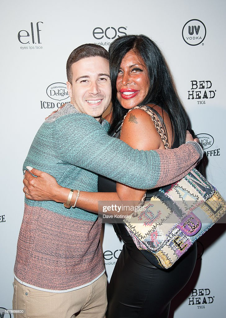 Vinny Guadagnino and TV personality Angela 'Big Ang' Raiola attends OK! Magazine 'So Sexy' Party at Marquee on May 1, 2013 in New York City.