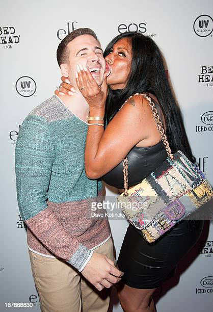 Vinny Guadagnino and TV personality Angela 'Big Ang' Raiola attends OK Magazine 'So Sexy' Party at Marquee on May 1 2013 in New York City