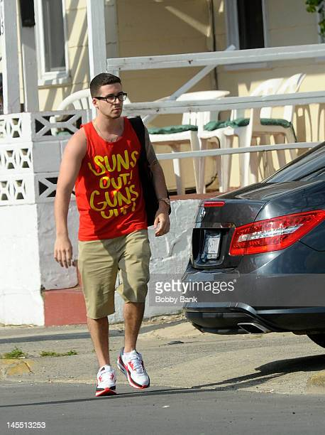 Vinny Guadagnino arrives with the cast of 'Jersey Shore' on May 31 2012 in Seaside Heights New Jersey