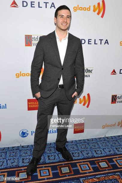Vinny Guadagnino attends the 23rd Annual GLAAD Media Awards at the Marriott Marquis Hotel on March 24 2012 in New York City
