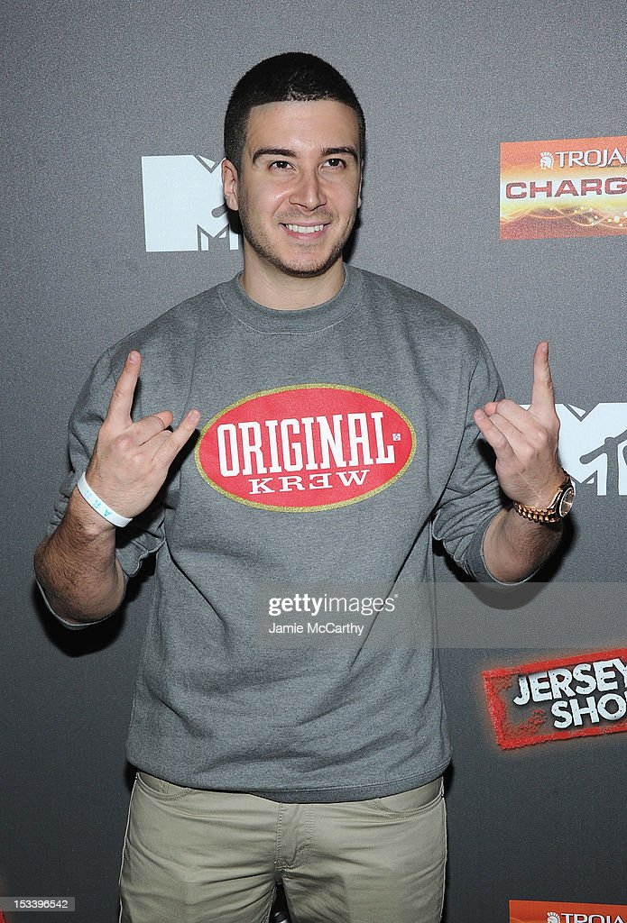 Vinny Guadagnino attends the 'Jersey Shore' Final Season Premiere at Bagatelle on October 4 2012 in New York City