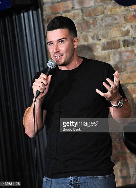 Vinny Guadagnino attends The Stress Factory Comedy Club on September 17 2014 in New Brunswick New Jersey
