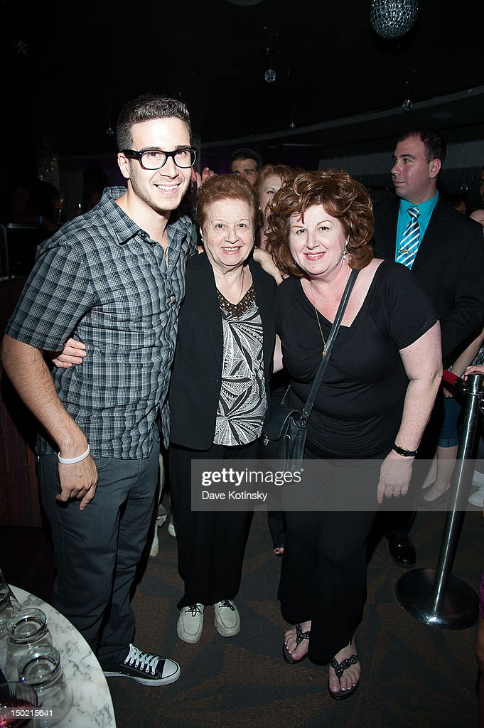 <a gi-track='captionPersonalityLinkClicked' href=/galleries/search?phrase=Vinny+Guadagnino&family=editorial&specificpeople=6693900 ng-click='$event.stopPropagation()'>Vinny Guadagnino</a> From Jersey Shore hosts, his mother and grandmother at Gypsies Lounge on August 12, 2012 in Mount Pocono, Pennsylvania.