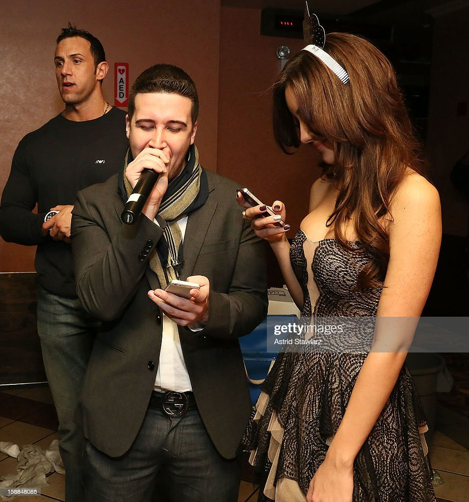 Vinny Guadagnino kisses Melanie Iglesias during Joonbug's New Year's Eve 2013 Celebration With Vinny Guadagnino at AMC 34th Street on December 31...