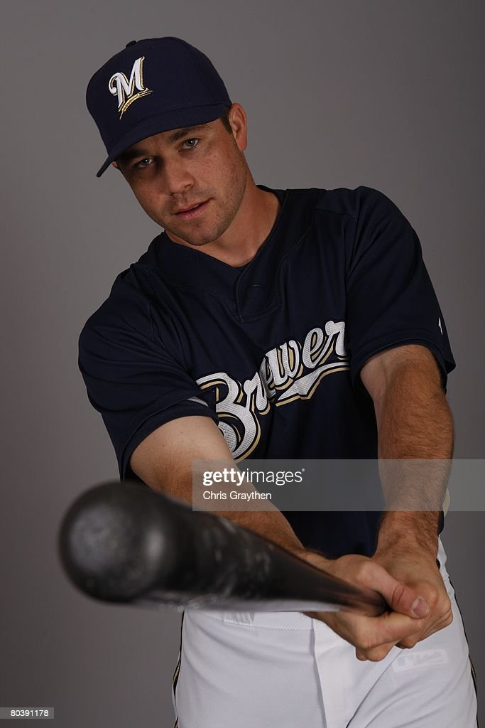 Vinny Rottino poses for a photo during the Milwaukee Brewers Spring Training Photo Day at Maryvale Baseball Park on February 26 2008 in Maryvale...