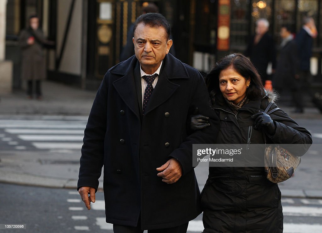 Vinod Hindocha and his wife Nilam, parents of murdered newlywed <a gi-track='captionPersonalityLinkClicked' href=/galleries/search?phrase=Anni+Dewani&family=editorial&specificpeople=7343601 ng-click='$event.stopPropagation()'>Anni Dewani</a>, arrive at The High Court on December 13, 2011 in London, England. Shrien Dewani is fighting extradition to South Africa after authorities there want him to stand trial for allegedly hiring a hit man to kill his Swedish born bride Anni when their car was hijacked during their honeymoon last November 2010.