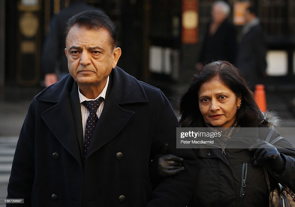 Vinod Hindocha and his wife Nilam, parents of murdered newlywed Anni Dewani, arrive at The High Court on December 13, 2011 in London, England. Shrien Dewani is fighting extradition to South Africa after authorities there want him to stand trial for allegedly hiring a hit man to kill his Swedish born bride Anni when their car was hijacked during their honeymoon last November 2010.