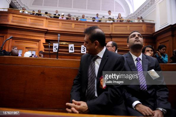 Vinod Hindocha father of murdered Anni Dewani at the Cape Town High Court on December 5 2012 in Cape Town South Africa Xolile Mngeni was sentenced to...