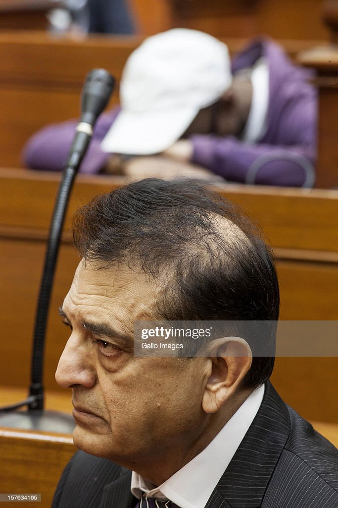 Vinod Hindocha, father of murdered Anni Dewani, in court ahead of the sentencing of Xolie Mngeni on December 5, 2012 in Cape Town, South Africa. Mngeni was sentenced to life in prison for the murder of Anni Dewani.