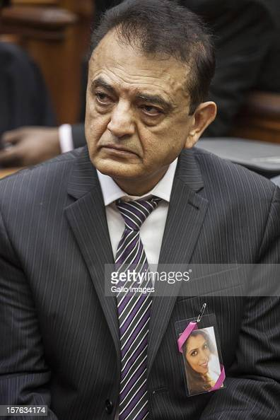 Vinod Hindocha father of murdered Anni Dewani in court ahead of the sentencing of Xolie Mngeni on December 5 2012 in Cape Town South Africa Mngeni...