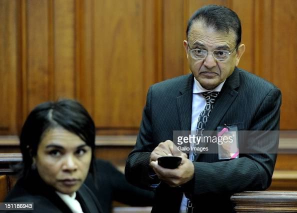 Vinod Hindocha father of murdered Anni Dwani appears at the Cape Town High Court on September 3 2012 in Cape Town South Africa He is attending the...