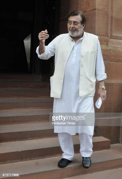 BJP MP Vinod Khanna at Parliament on the first day of the Budget Session on February 23 2015 in New Delhi India Veteran actor and sitting BJP MP...