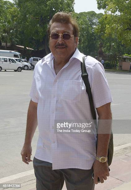 Vinod Khanna at the parliament to attend budget session in New Delhi on July 7 2014